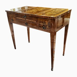 Antique Napoleon III Inlaid Rosewood French Dressing Table, 1860s