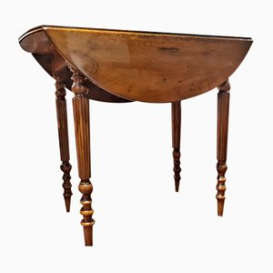 Antique Luis Felipe Folding Table, 1880s