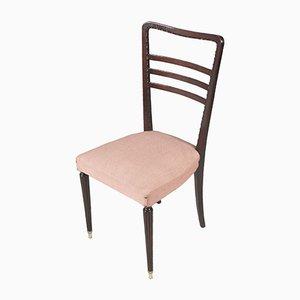 Mid-Century Stuhl aus geschnitztem Mahagoni von Paolo Buffa für Cantù