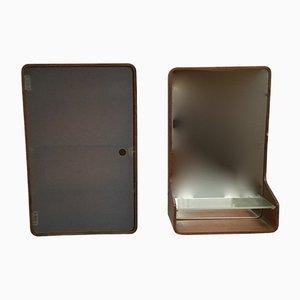 Mobiletto e specchio da bagno di Friso Kramer per Auping, anni '60