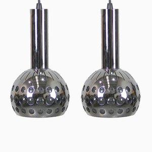 Lámparas belgas era espacial vintage. Juego de 2