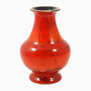 Rote 6614 Keramikvase von Bay Keramik, 1970er