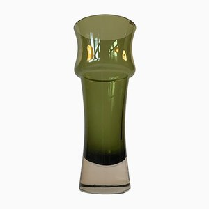 Mid-Century Green Glass Vase by Tamara Aladin for Riihimaen Lasi Oy, 1970s