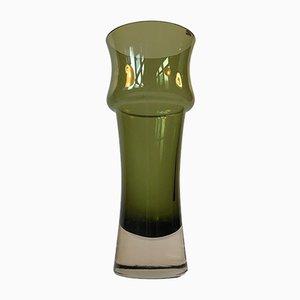 Vaso Mid-Century in vetro verde di Tamara Aladin per Riihimaen Lasi Oy, anni '70