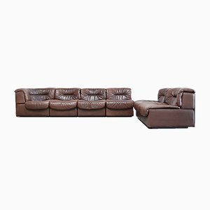 Vintage Modular Leather DS 14 Sofa from de Sede, 1970s