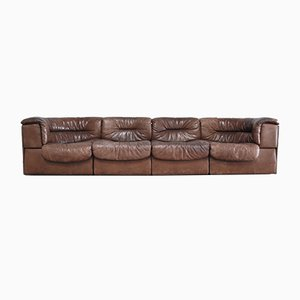 Vintage Modular Leather Sofa Set from de Sede, 1970s