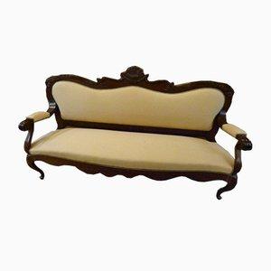 Englisches Kolonialzeit Sofa, 1920er