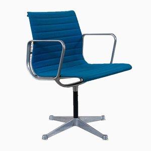 Vintage Stuhl mit Gestell aus Aluminium von Charles & Ray Eames für Herman Miller