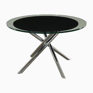 Italienischer Vintage Tisch aus Glas & verchromtem Metall