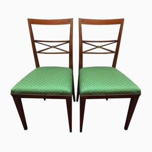 Antike italienische Esszimmerstühle, 1910er, 2er Set