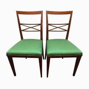 Antique Italian Dining Chairs, 1910s, Set of 2