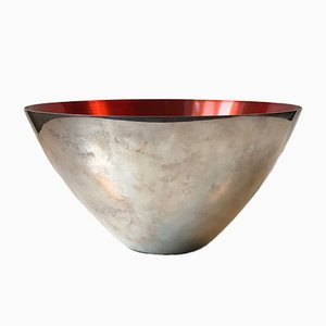 Mid-Century Bowl in Silver Plate & Enamel from DGS, 1950s