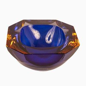 Cuenco vintage de cristal de Murano