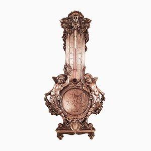 Thermomètre Antique en Bronze de B Wicker