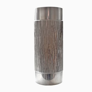 Brutalist Stainless Steel Vase, 1960s
