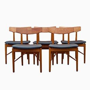 Dänische Essgruppe von Arne Vodder für Sibast Mobler, 1960er, 5er Set
