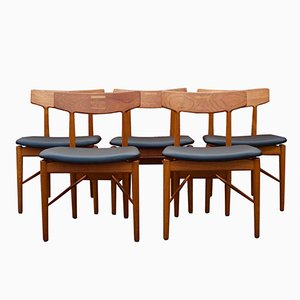 Danish Dining Chairs by Arne Vodder for Sibast Mobler, 1960s, Set of 5