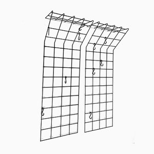 Mid-Century Wire Grid Coat Rack by Karl Fitchel for Drahtwerke Erlau A.G. Aalen, 1950s