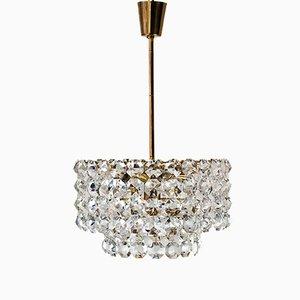 Lámpara de araña de cristal de Bakalowits & Sons, años 60