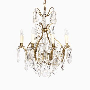 Antique Crystal Chandelier with Star Design