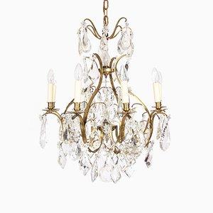 Lustre Antique en Cristal avec Design en Étoile
