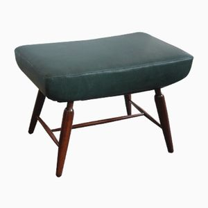 Vintage Leather Stool, 1970s