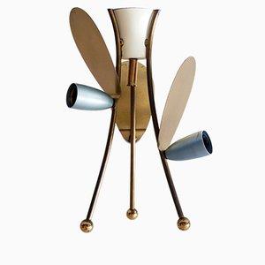 Plafón o lámpara de techo Sputnik alemana con tres brazos, años 50