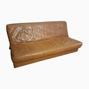 Sofá cama de cuero de Steiner, años 80