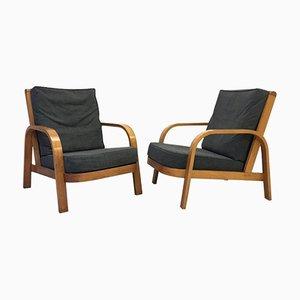 Moderne Lamda Sessel aus Bugholz von Hein Heckroth für Dartington Hall, 1930er, 2er Set