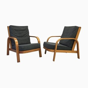Modernist Bentwood Lamda Chairs by Hein Heckroth for Dartington Hall, 1930s, Set of 2