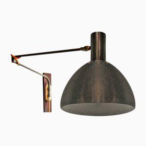 Anpassbare dänische Mid-Century Wandlampe