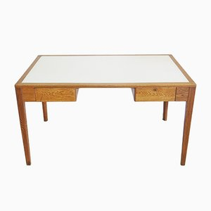 Mid-Century English War Department Oak Desk, 1956