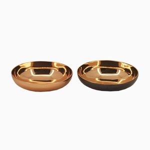 Scodelle in bronzo pressofuso fatto a mano di Alguacil & Perkoff Ltd, India, 2018, set di 2