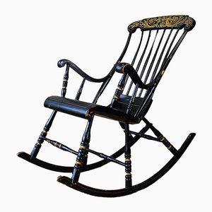 Antique Swedish Rocking Chair, 1850s