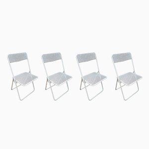 Vintage Metal Garden Chairs, 1960s, Set of 4