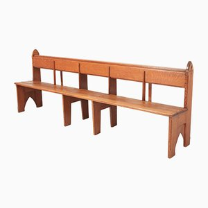 Vintage Art Deco Oak Bench
