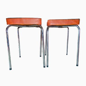 Vintage Industrial Workshop Stools, 1970s, Set of 2