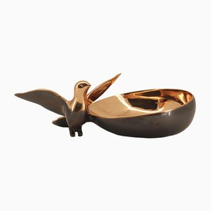 Handmade Cast Bronze Bowl with Bird by Alguacil & Perkoff Ltd, 2018