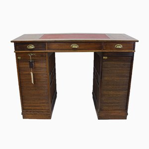 Antique Solid Oak Rolltop Desk from Stolzenberg