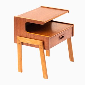 Table d'Appoint Scandinave Vintage en Teck