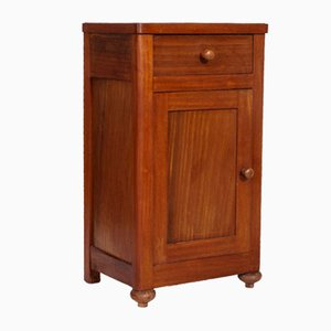 Antique Walnut and Mahogany Nightstand, 1900s