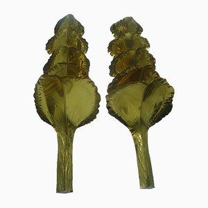 Apliques de latón dorado de Maison Roméo, años 70. Juego de 2
