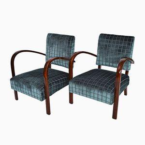 Italienische Sessel, 1940er, 2er Set