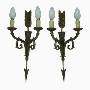 Bronze Quiver Sconces, 1950s, Set of 2