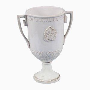 Emaillierte griechische Vase aus Terrakotta von Ceramiche di Este, 18. Jh.
