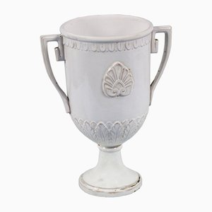Jarrón griego de terracota esmaltada de Ceramiche di Este, siglo XVIII