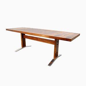Table Basse ou Table de Salon Ajustable Vintage en Palissandre de K&G, 1960s