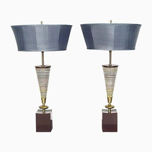 Mid-Century Modern Ceramic Table Lamps from The Rembrandt Lamp Co., Set of 2