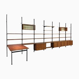 Large Mid-Century Pira Modular Shelving System by Olaf Pira for String, 1960s