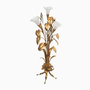 Vintage Calla Gilded Floor Lamp by Hans Kögl, 1960s